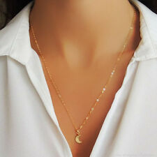 *EXTREMELY RARE* $110 BHLDN 14K GOLD MOON CRESCENT CHAIN NECKLACE ANTHROPOLOGIE