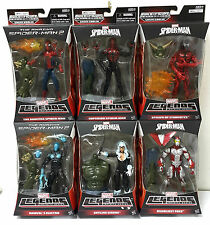 "MARVEL LEGENDS INFINITE SERIES SPIDER MAN 6"" BUILD GREEN GOBLIN set of 6 FIGURES"