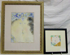 Original watercolours Dora Holzhandler The Kisses listed Jewish artist +freight