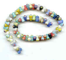 NEW Millefiori Glass Beads-6X12mm peanuts 72+ LK02