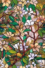 "Magnolia Window Film 24x36"" Creates Privacy Textured Stained Glass visual effect"