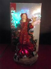 Treasures Collectable Fiber Optic Heavenly Angel Figurine w/ BOX Electric