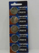 RENATA  CR2016 Lithium Baterry 3Volt   - 5Pc