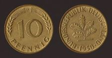 GERMANIA GERMANY 10 PFENNIG 1950 D