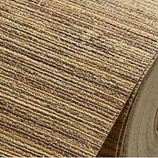 Modern natural string wood linen woven chinoiserie grasscloth textured wallpaper