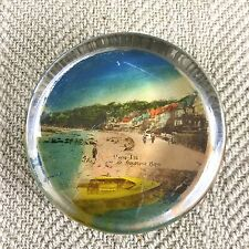 Antique Edwardian Paperweight Souvenir Glass Seagrove Bay Isle of Wight