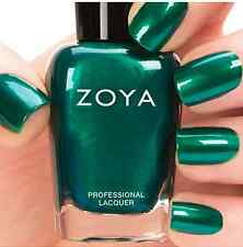 ZOYA ZP680 GIOVANNA emerald green metallic nail polish lacquer~SATINS Collection