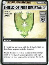 Pathfinder Adventure Card Game - 1x Shield of Fire Resistance - Burnt Offerings