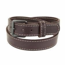 """1 3/4"""" Heavy Duty Leather Work_Gun Belt Stitched_Gun Metal Buckle_Amish Handmade"""