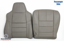 2009 Ford F250 F350 Lariat -PASSENGER Side Complete Leather Seat Covers Gray
