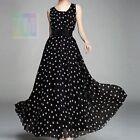 Lagenlook women boho summer long maxi dress chiffon size 8 10 12 14 16 18 20