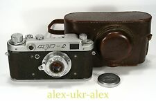 Early Russian FED-2 with FED lens 35-mm film camera M39 mount. №131872.Repaired