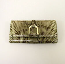 New Authe GUCCI Greenwich Python Clutch Continental WALLET w/Coin Pocket 257124