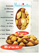 PUBLICITE ADVERTISING 054  1962   BRUN   biscuits  Les MADELEINETTES