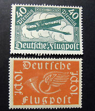 "GERMANY,GERMANIA D.REICH 1919 "" Soggetti Aerei "" 2 Valori cpl set MH"