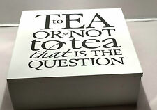 To Tea or not to Tea Wooden Tea Chest with 50 Enveloped Clipper Organic Tea Bags