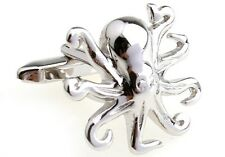 Octopus Cufflinks 8 Leg Silver Sea Diver Wedding Fancy Gift Box Free Ship USA