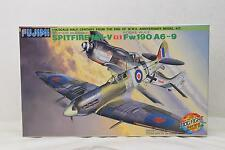 Authentic  FUJIMI Plastic Model Spitfire MK-V vs Fw190 A6-9 1/48 Scale 56293