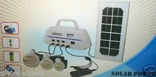 Solar Power Super Bright LED 3 Lamp Lighting System With USB Out Power Bank