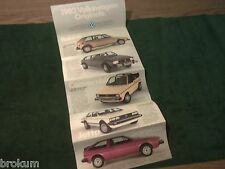 MINT 1982 VW VOLKSWAGEN VANAGON CAMPER JETTA RABBIT SALES BROCHURE (BOX 772)
