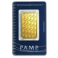 SPECIAL PRICE! 1 oz Gold Bar - Pamp Suisse New Design (In Assay) - SKU #86748