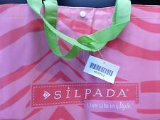 NWT Silpada Jewelry Pink Zebra Print Tote Bag Very Rare Purse Diaper Bag Gym Bag