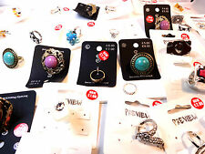 WHOLESALE/JOBLOT 200+ LADIES CARDED FASHION STATEMENT / CHIC RINGS BRAND NEW