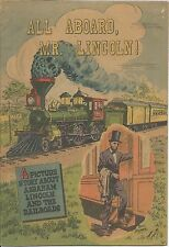 ALL ABOARD MR LINCOLN AMERICAN RAILROAD RARE GIVEAWAY PROMO COMIC 1959 F