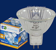 10x MR16 35w Long Life Halogen Light Bulbs 12v LOOK