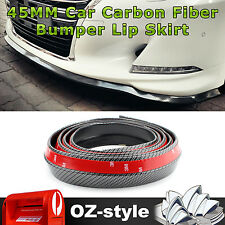 45MM Car Truck Front Rear Bumper Lip Skirt Spoiler Side Splitter Carbon Fiber 3M
