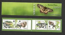SERBIA-MNH-WWF-BOOKLET-FAUNA, INSECTS-Butterflies-PRIVATE-2016.