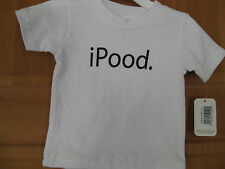 "Little Teez Infant T-shirt NEW ""iPOOD"" Size 6 Mo.  NWT  **See Details**"