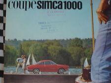 mini catalogue brochure SIMCA 1000 COUPE / COULEURS / FRANCAIS