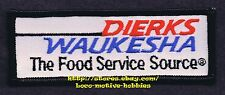 PATCH Badge DIERKS WAUKESHA FOODS Wholesale Distributor FOOD SERVICE SOURCE 4.3""