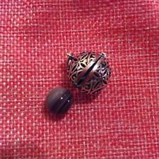 Mexican Bell Bola Silver 925 Hot Pendant with Beads Botswana Agate