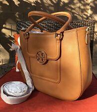 Classy!!!**Tory Burch Amanda Classic Hobo Bag Tan Tote Handbag Brown Leather NWT