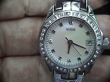 guess mother of pearl G96037L waterpro women's watch to 100 meters