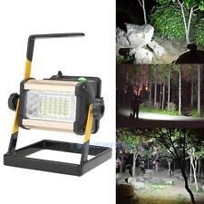 Rechargeable 50W 36LED Portable LED Flood Spot Work Light Camping Lamp 18650 /AC