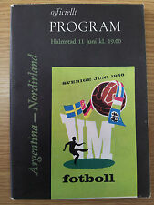 1958 World Cup Finals ARGENTINA v NORTHERN IRLAND
