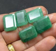 74.40CT/ 5 Pc Natural Beautiful Emerald Cut  Colombia Emerald Lot Gems BestOffer