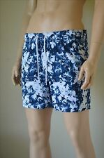 Abercrombie & Fitch Campus Fit Floral Graphic Swim Tugger Shorts Navy Blue L £60
