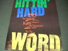 HITTIN' HARD 1993 Promo Poster Ad DAS EFX Pharcyde TERROR FABULOUS Da Youngsta's