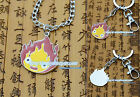 Howl's Moving Castle Calcifer necklace pendant /keychian new 2styles