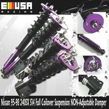 EMUSA FULL coilovers Suspension Lower kits Purple FOR 1995-1998 NISSAN 240SX S14