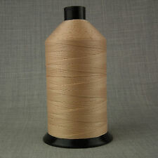 2,000m BONDED NYLON SEWING THREAD 12s LIGHT BEIGE BROWN TAN LEATHER CRAFT REPAIR