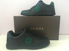 NWT $540 GUCCI ANDROS Black /green Men's Sneaker Made In Italy Size 9 US