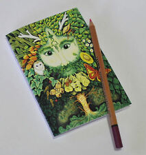 Green Man A5 recycled blank notebook Pagan Medieval drawing sketchbook Celtic
