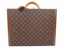 Auth LOUIS VUITTON Monogram Trunk Hard Case Business Luggage Bag President R201