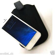 Black PU Leather Pouch Sleeve Case Cover for iPhone SE, 5s and iPhone 5 NEW