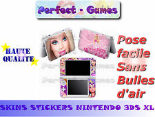 Skin sticker auto-collant vinyl Barbie n°3 pour console nintendo 3DS XL LL